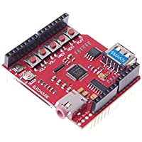 SMAKN® USB-SD MP3 Wave Shield With 64Mbit SPI Flash Audio Amplifier Arduino Compatible