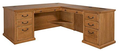 File Drawer Four Oxford (Martin Furniture Huntington Oxford Office Right L-Shaped Desk, Wheat Finish)