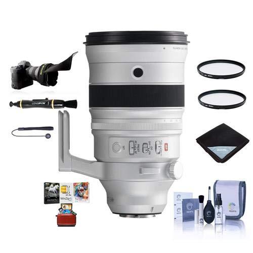 Fujifilm XF 200mm f|2 R LM OIS WR Lens with XF 1.4X TC F2 WR Teleconverter Kit - Bundle with 105mm UV|CPL Filters, Flex Lens Shade, Lens Wrap, Cleaning Kit, Capleash, Lenspen Cleaner, Mac Software