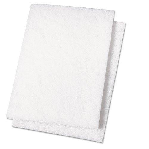 Light Duty Scour Pad, White, 6 x 9, 20/Carton by Premiere Pads ()