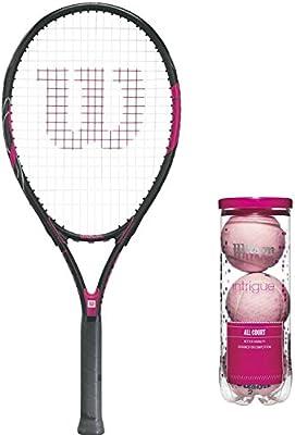 Wilson Hope Adulto Prestrung Raqueta de Tenis Paquete con Rosa ...