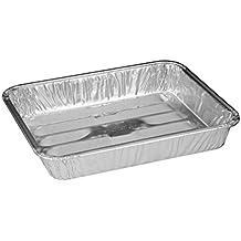 "Handi-Foil 8"" x 7"" x1.3"" Small Mini Toaster Oven Broiler Baking Pan Hfa Ref# 334 (pack of 25)"