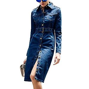 Women's Outerwear Denim Jean Long Coats Jackets