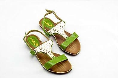 Adora Green Thong Sandal For Women