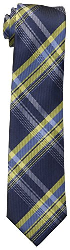 Big Tie - Dockers Big Boys' Plaid Necktie, Navy/Yellow, One Size