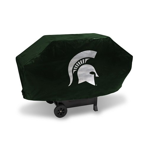 (NCAA Michigan State Spartans Deluxe Grill Cover, Green, 68 x 21 x 35