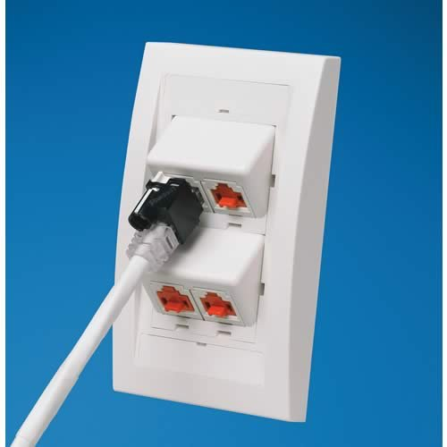 Recessed Rj45 Plug Lock In Devices And One Installation