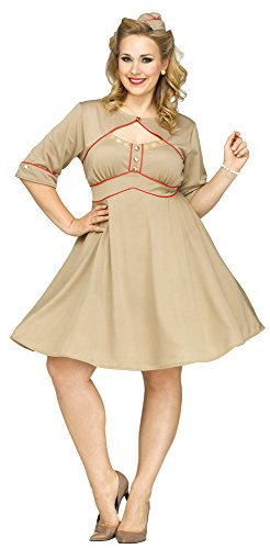 Army Costumes 1940 (Fun World Women's Plus Size Army Gal Costume, Multi,)