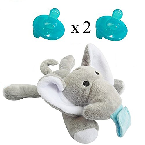 Missblue Infant Pacifier-baby Soothie Pacifier With Detachable Silicone Bpa Free Pacifier Holder,ele