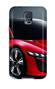 Top Quality Protection Two Door Red Car On Gray Case Cover For Galaxy S5