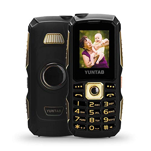 YUNTAB Unlocked 2G Cell Phone for Seniors and Kids, Easy to Use, Large Button and Volume and Fonts, Long-time Standby, with Dual Sim Card Slot, LED Flashlight, 1.77 inch Anti-Fall(Black)