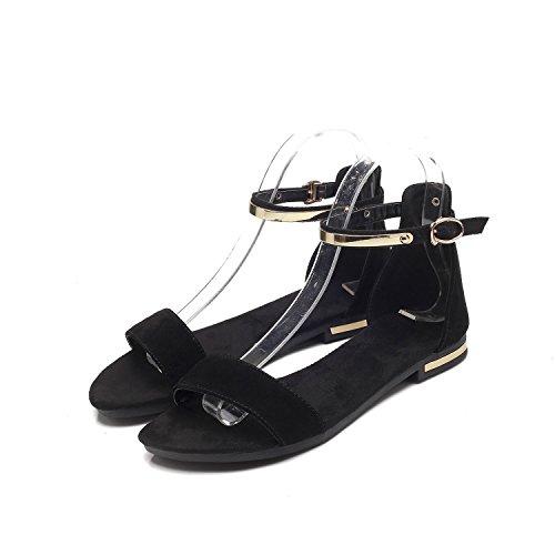 sillones de sandalias de romanas código cuero del blackFrosted final El tamaño verano cómodos q1AITgnwv