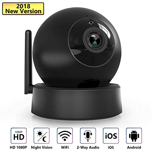 VICTONY 1080P HD Wireless WiFi IP Camera Indoor Camera with Night Vision Motion Detection 2-Way Audio Home Security Surveillance Pan/Tilt/Zoom Monitor for Baby/Elder/Pet,Support iOS and Android by VICTONY
