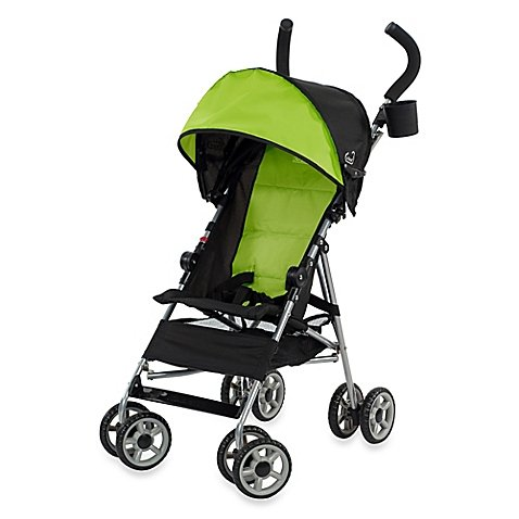 Kolcraft Cloud Umbrella Stroller in Green/Black