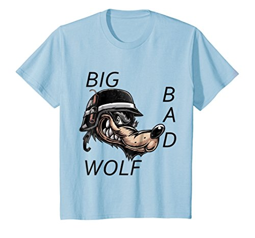 Kids Big Bad Wolf Halloween Costume T-Shirt T Shirt Tee Shirt 12 Baby Blue -