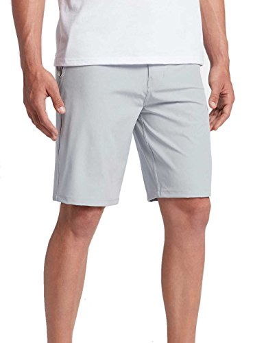 Slim Fit Walkshort - Hurley - Mens Boardwalk Phantom Walkshorts, Size: 38, Color: Wolf Grey Heather