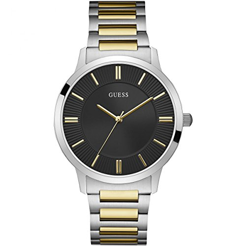 Guess-Watches-Mens-Guess-Mens-Silver-Gold-Black-Watch