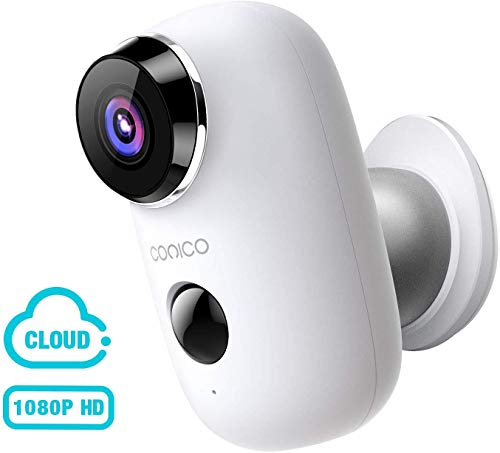 Wireless Outdoor Security Camera, CONICO 1080P Rechargeable Battery Security Camera with 2-Way Talk,Wi-Fi IP Camera with Motion Detection Night Vision, Cloud Storage
