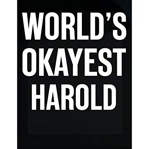Inked Creatively World's Okayest Harold Funny Gift for Harold - Sticker ()