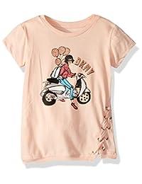 DKNY - Playera de Manga Corta Estampada para niña