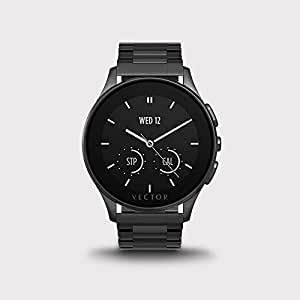 Vector Smart Watch Stainless Steel Band For Android & iOS,Black - L1-10-006