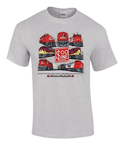 (Soo Line Collage Authentic Railroad T-Shirt Adult X-Large [59])