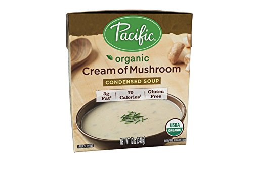 Pacific Foods Organic Cream of Mushroom Condensed Soup, 12-Ounce Carton, 12-Pack