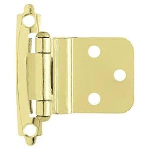 Liberty H0104AL-PB-U 3/8-Inch Self-Closing Inset Hinge, 2-Pack