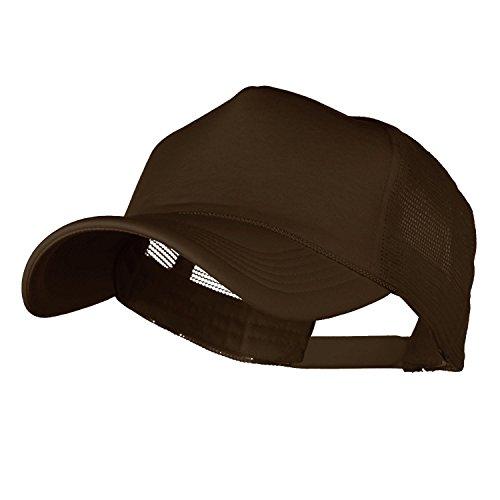 HB Trucker Baseball Cap Summer Foam Hat Adjustable Strap Snapback (One Size, Brown)