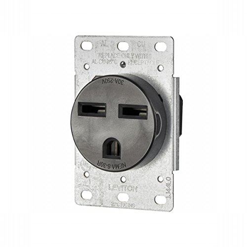 Mount 250v Flush (Leviton 061-05372-000 Power Receptacle 30 Amp 250 Volt Flush Mount)