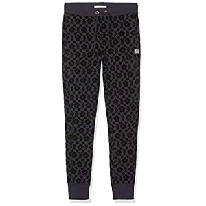 Scotch & Soda Girl's Slim Fit Sweatpants with All-Over Flock Print Trouser