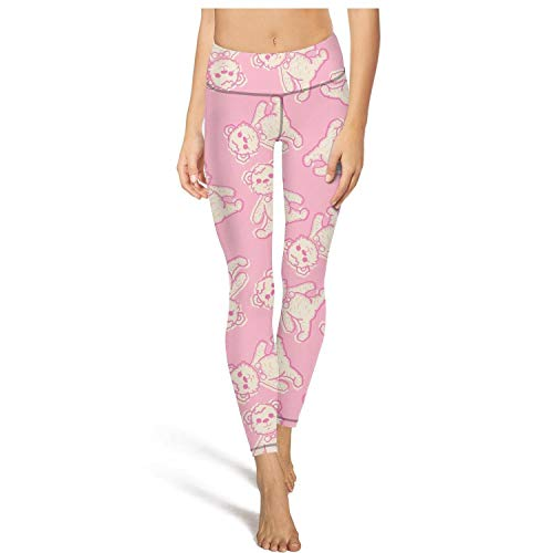 PLOKINC Flare Yoga Pants for Womens Workout Leggings Huge Teddy Bear Pink Fit Pockets Opaque Tights