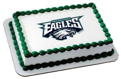 Amazon 1 4 Sheet NFL Philadelphia Eagles Football Edible Image Cake Cupcake Topper Decorative Toppers Grocery Gourmet Food