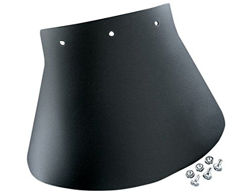 Orange Cycle Parts Single Large 1/8 in. Rubber Mud Flap Black 10 3/8 in. W x 8 in. H