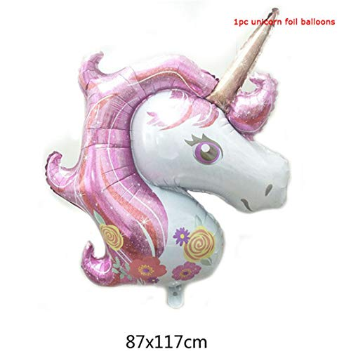 Flamingo Balloons Foil Animal Globos Birthday Party Decorations Kids Unicorn Party Wedding Balloon Unicorn Inflatable Air Balls Large Unicorn Pink]()