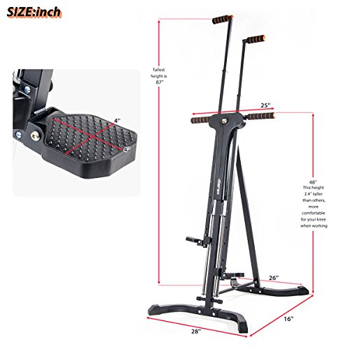 Merax Vertical Climber Exercise Folding Climbing Machine for Home Gym Folding Cardio Workout Machine by Merax (Image #6)