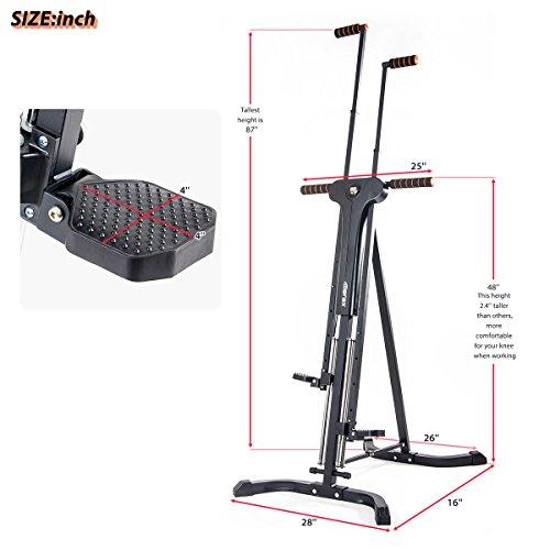Merax Vertical Climber Fitness Climbing Cardio Machine Full Total Body Workout Fitness Folding Climber 2.0 (Black) by Merax (Image #6)