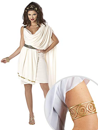 Classic Toga Deluxe Adult Costume and Grecian Arm Cuff