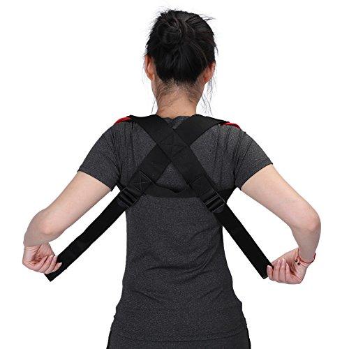 Posture Corrector, Adjustable Shoulder Chest Clavicle Correction Straighten Upper Back Band Prevents Slouching Relief Neck Pain for Men or Women Brace Strap