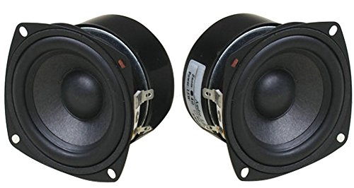 Full Range Loudspeaker, Yeeco 3 Inch 4Ohm HiFi Stereo Audio Speaker 5-15W 88dB Full-ranged Bookshelf Speaker for Car Audio DIY Bluetooth Speakers Tweeters, Pack of 2