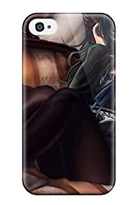 Defender Case With Nice Appearance (vocaloid Hatsune Miku Soft Shading) For Iphone 4/4s
