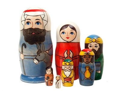 Holy Family Russian Nesting Doll 7pc./6