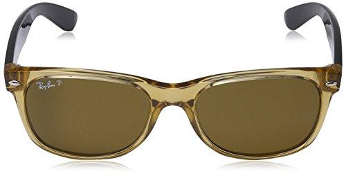 Mens-New-Wayfarer-Polarized-Square-Sunglasses-HONEY-55-mm