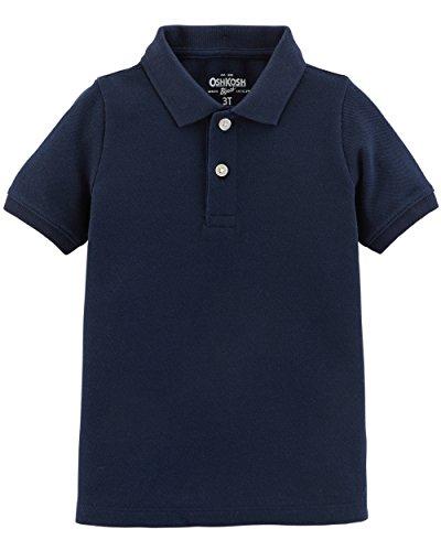 Osh Kosh Boys' Short Sleeve Uniform Polo, Navy, 5T