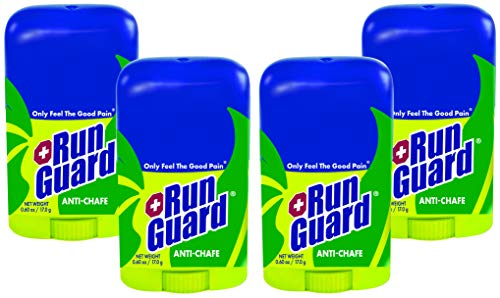 RunGuard Natural Travel Size (0.6 oz) 4 Pack: Made with 100% Plant-Based Ingredients Plus Beeswax. Works for All Distances, from 5K Walks/Runs to 100 Mile Ultra Marathons. (Best Distance To Run)