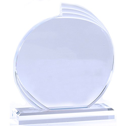 Customizable 6 Inch Clear Acrylic Round Flair Award, Includes Personalization