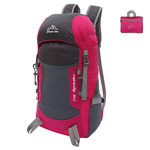 SAMI STUDIO Hiking Backpack Ultra Lightweight Packable Backpack Water Resistant Daypack,Small Backpack Handy Foldable Camping Outdoor Backpack Little Bag Pink