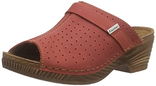 Fischer Inblu Clog, Women's Clogs Red (311 Cherry)