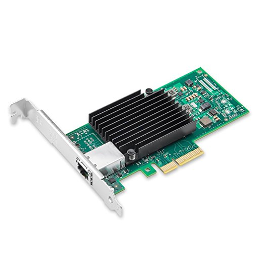 10Gb PCI-E NIC Network Card, for X550-T1 with Intel ELX550AT Chip, Single Copper RJ45 Port, PCI Express Ethernet LAN Adapter Support Windows Server/Linux/ESX