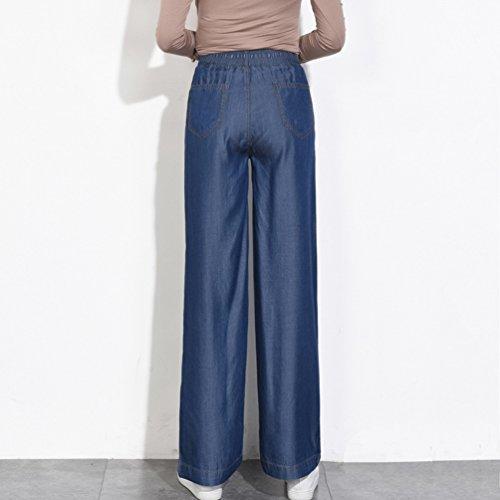 Vita Con Senza Allungamento Tookang Bootcut Elastica Gamba Flared Taglia Donna Pantalone Magro Denim Grossa Lunghi Jeans Casuale Pantaloni Blu Larga 5gx7gpwT